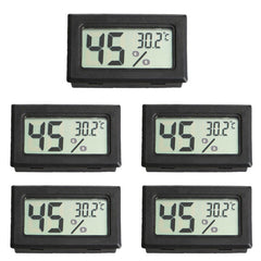 5 PCS Digital LCD Indoor Temperature Humidity Meter Thermometer Hygrometer