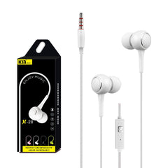 Universal 3.5mm In-Ear Stereo Earbuds Earphone With Mic For Cell Phone