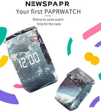 New Paper Watch Life Waterproof Paper Strap Magnetic Closure Buckle Ultra Light LED Personalized Digital Watch relogio feminino