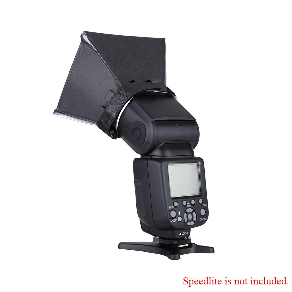 Portable Photography Flash Diffuser Mini Softbox Kit for Canon EOS Nikon Olympus Pentax Sony Sigma DSLR Speedlite Flash