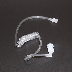 Surveillance Security Coiled Acoustic Tube Ear Bud For Earphone Earpiece Headset