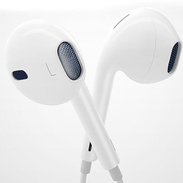 Volume Control Mic White Headphone Earphone For Mobile Phones