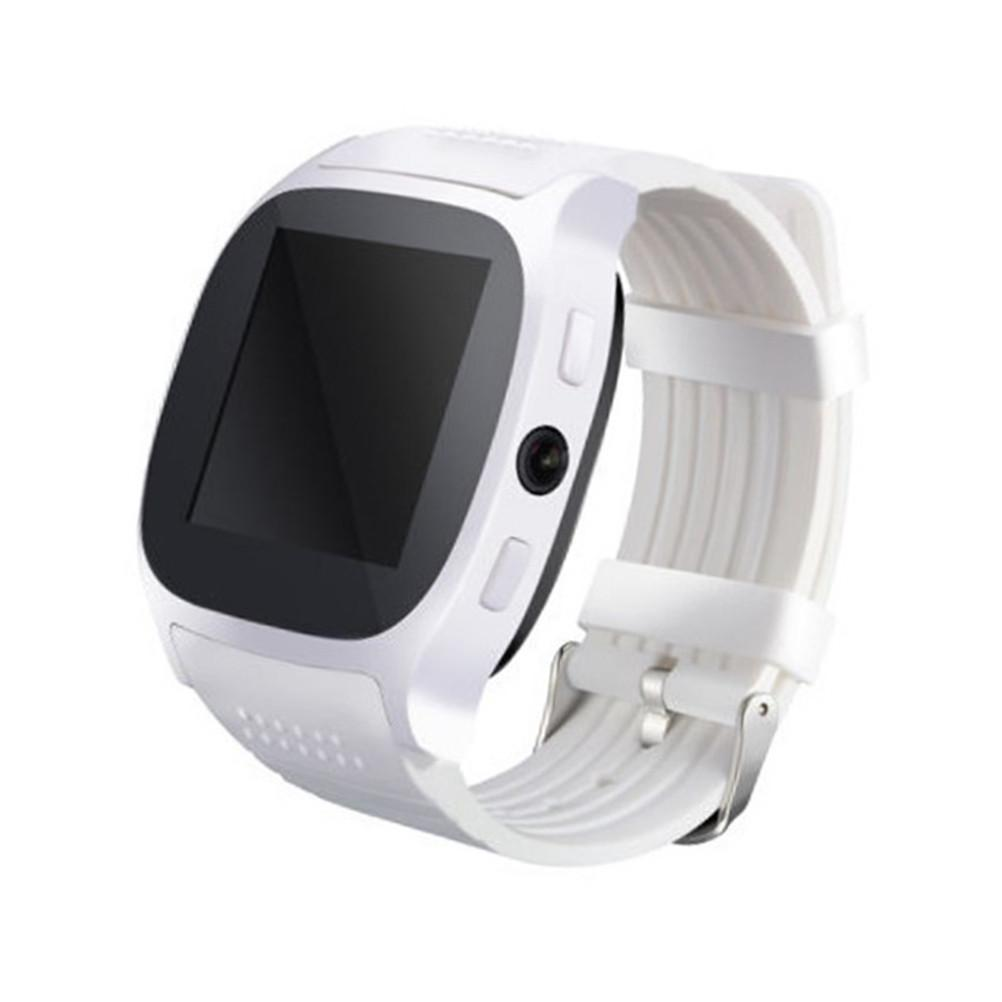 T8 Smart Watch Heart Rate Sleep Monitor Pedometer Sedentary Smart Wristband with Camera Touch Screen Sim Card Slot