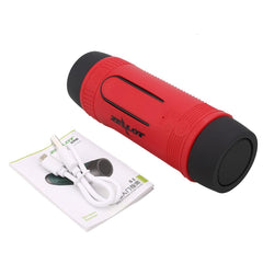 Bluetooth Flashlight Speaker Outdoor LED Torchlight Power Bank Charger FM TF