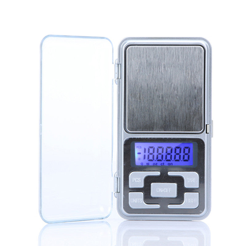 High Accuracy Mini Electronic Digital Pocket Scale Jewelry Weighing Balance Portable 200g/0.01g Counting Function Blue LCD g/tl/oz/ct