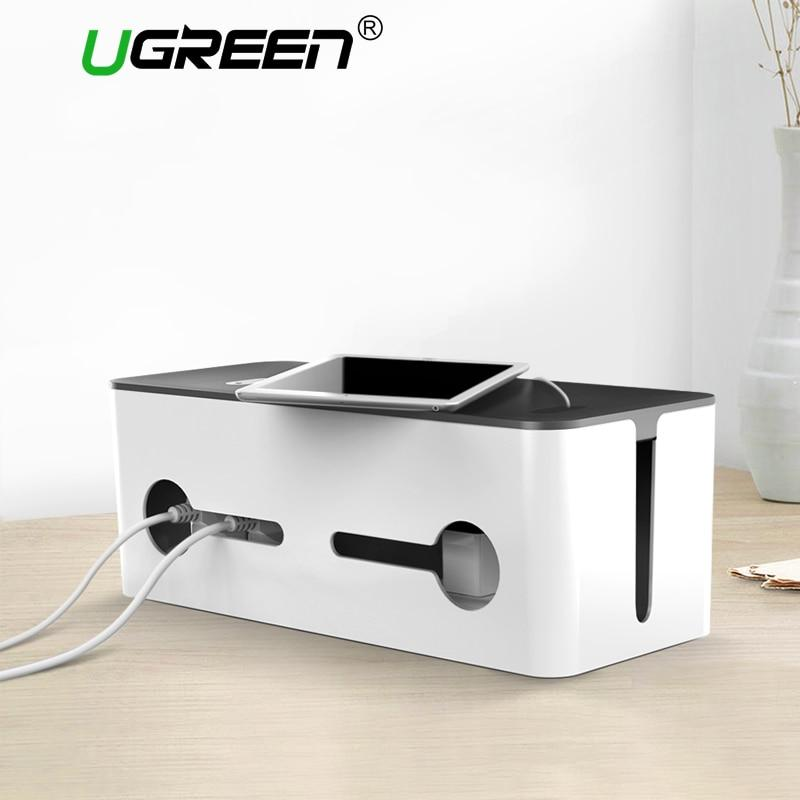 Ugreen Home Electronic Accessories Cable Organizer Box  for Power Strip Storage USB Charger Cable Management High-capacity Box