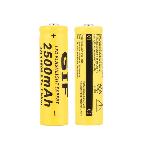 GIF TR 14500 3.7V 2500mAh Rechargeable Li-ion Battery For LED Flashlight