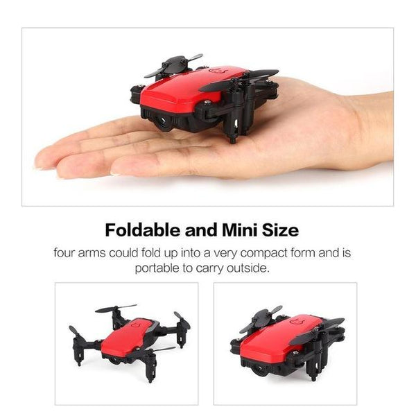 720p RC Quadcopter Drone with Camera Mini Pocket Foldable RC Drone FPV Selfie Real-time Altitude Hold Headless Mode 3D Flip Wifi