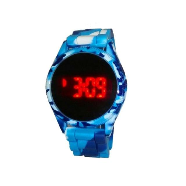 Band LED Watch Gel Touch Round New Silica Wrist Sports Unisex Screen