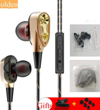 Portable HiFi In-ear Double Moving Circle Earphone  with Line Control