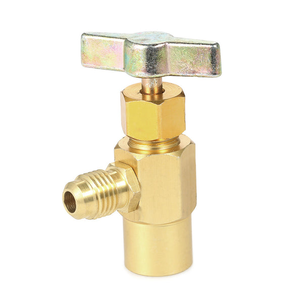 "Automobile Air Conditioner Refrigerants Can Dispensing R134A R-134 AC Refrigerant Aluminum Tap 1/2"" ACME Thread Valve Tool"