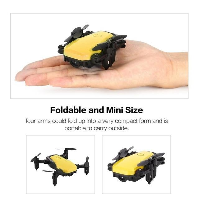 0.3MP RC Quadcopter Drone with Camera Mini Pocket RC Drone FPV Selfie Real-time Altitude Hold Headless Mode 3D Flip Wifi