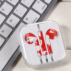 Painted wired  Headphone Earphone Headset Volume Control  For Mobile Phones