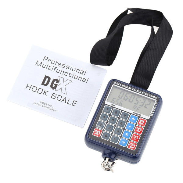 50kg/10g Multi-functional Mini Digital Hanging Luggage Weight Scale Calculator Weighing Tool