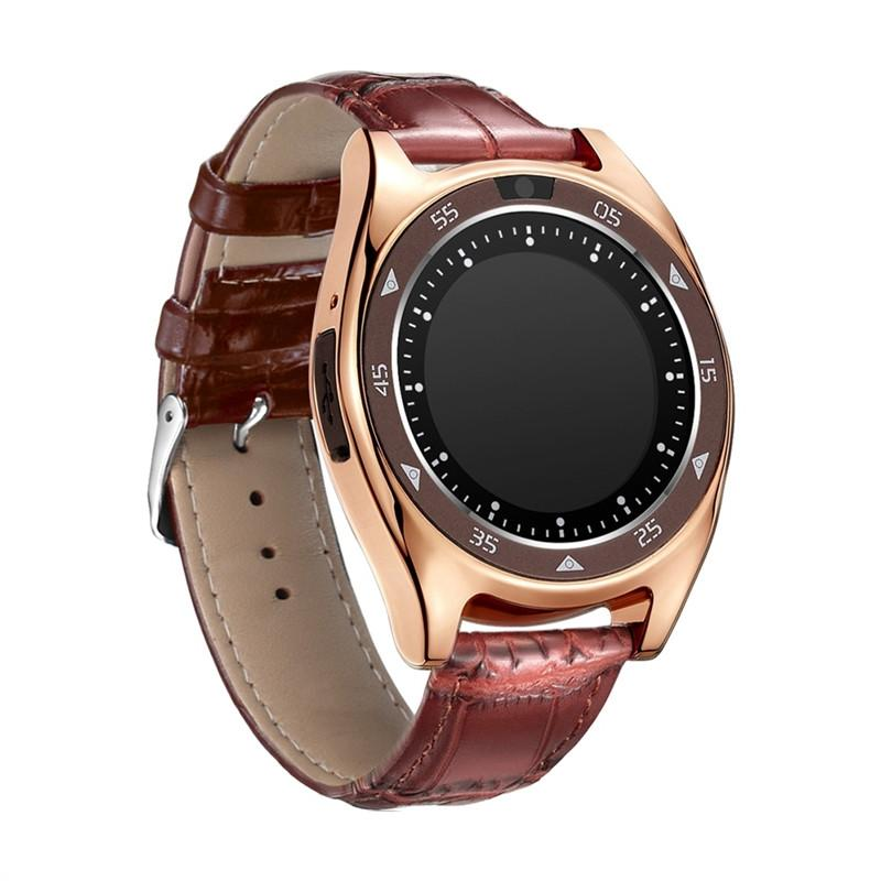 TQ920 2G Bluetooth Smart Watch Phone MTK6261D 32MB RAM 32MB ROM Heart Rate Monitor Blood Pressure Pedometer Smart Watch Fitness Tracker Sim Card with 0.3MP Camera