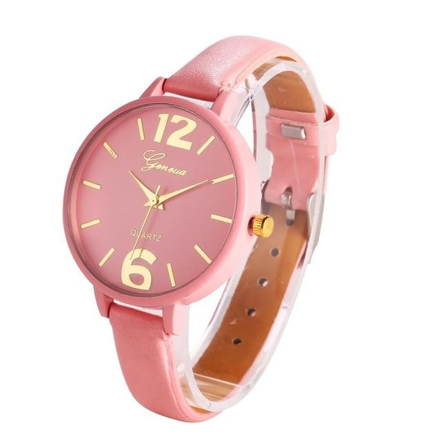Design Quartz Artificial Women Band Simple Leather Watch Fashion Wrist