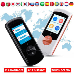 2.0inch Instant Voice Traductor 41 Languages Portable Smart Voice Translator Real Time WiFi Touching Screen Learn Travel Meeting