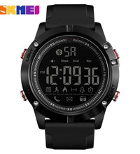 SKMEI Brand Men Black Bluetooth Smart Watch Man Sport for Android IOS Operating Phone Military Design Pedometer Calories Watches