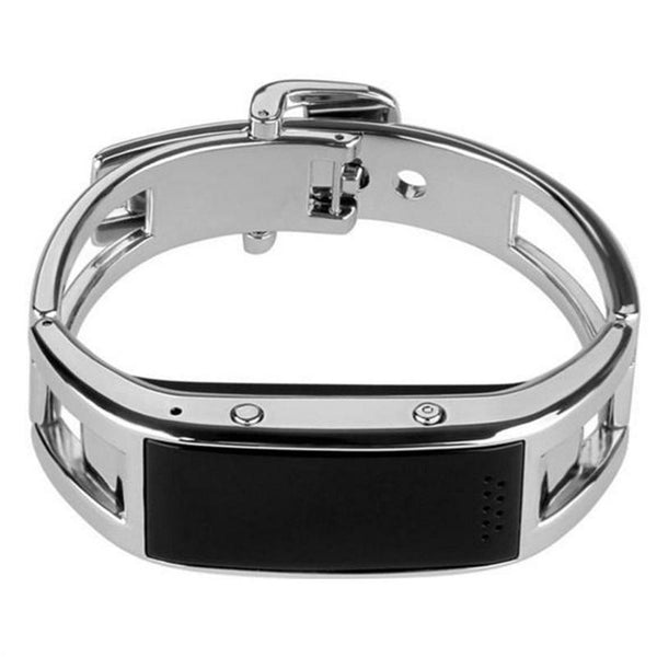 Womens Fashion Smart Watch Bluetooth Wristband Sleep Monitor Smart Bracelet (Sliver)
