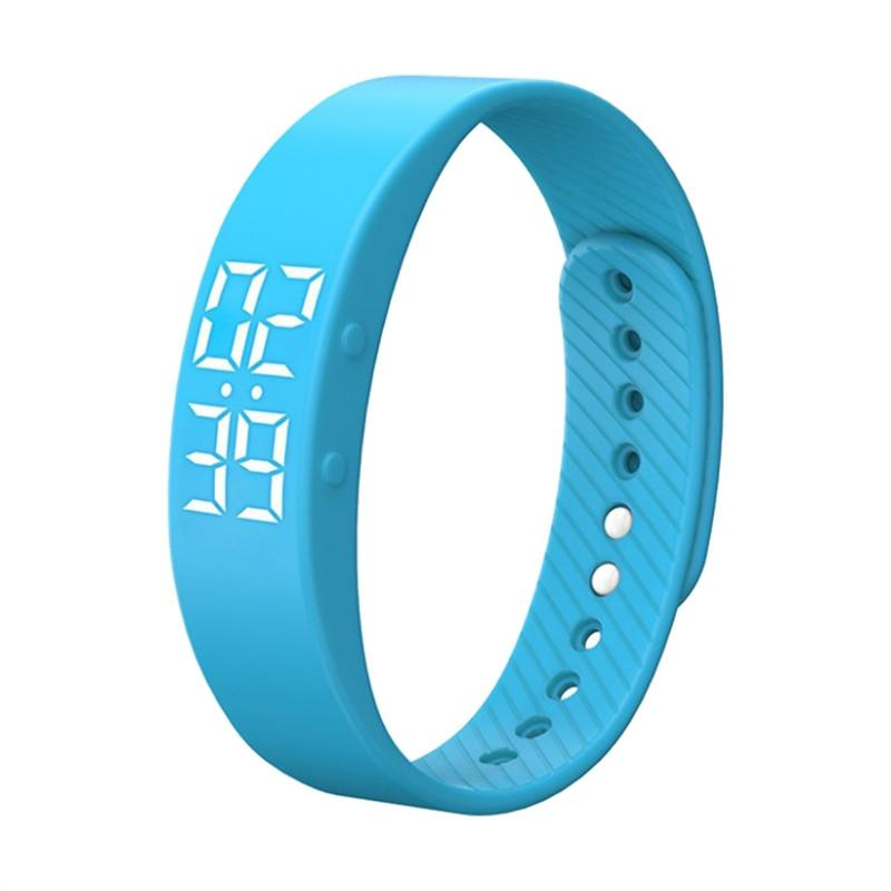 T5S Bracelet Watch with Vibrating Realtime Showing Waterproof Smart Wristband LED Screen Fitness Tracker Sports Sleep Smart Watch