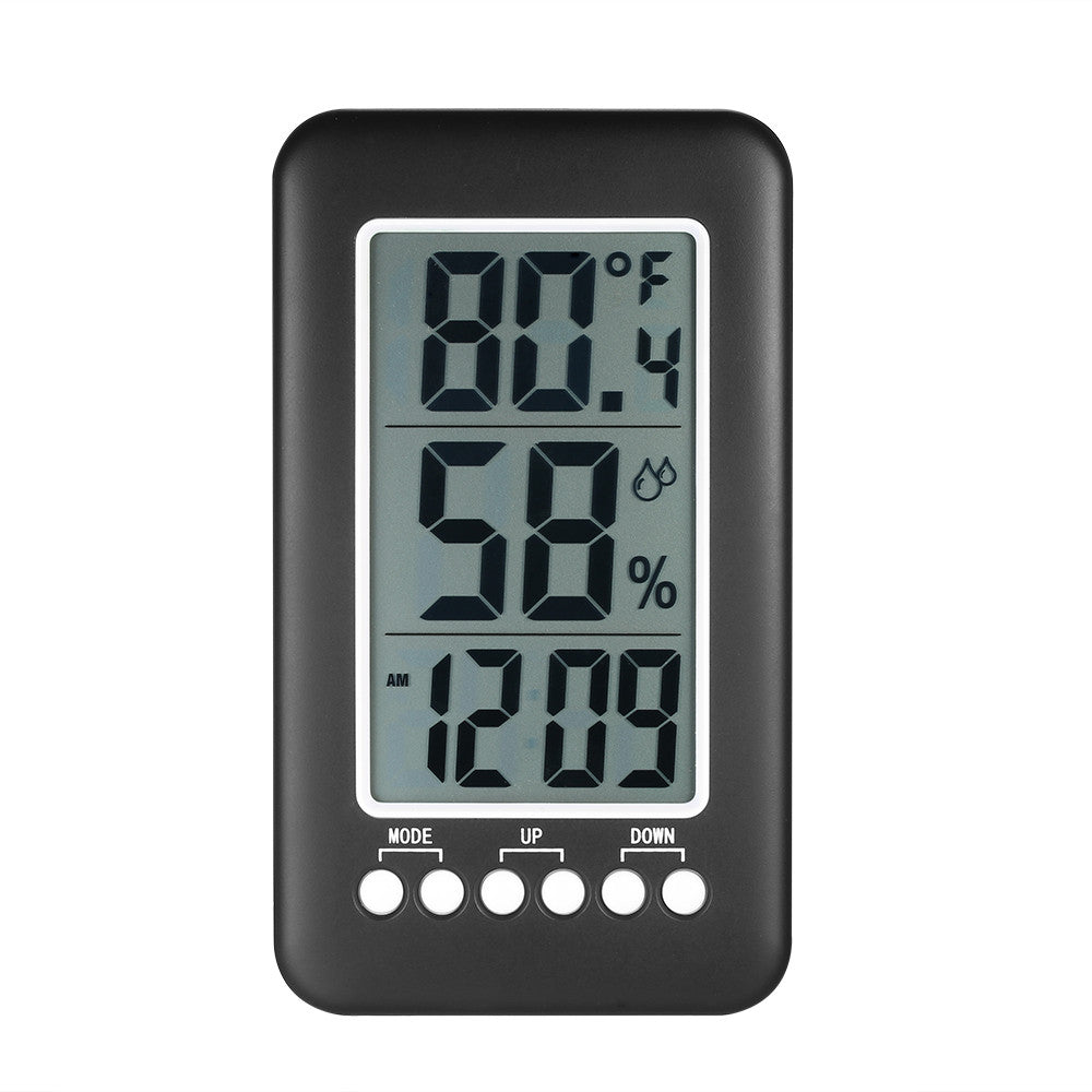 LCD ℃/℉ Wireless Indoor Digital Thermometer Hygrometer Clock Temperature Humidity Meter Alarm Clock
