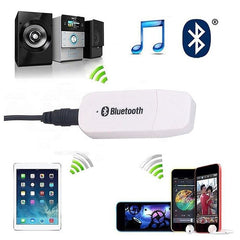 USB Bluetooth Music Audio Stereo Receiver Adapter For Car AUX MP3 Speaker