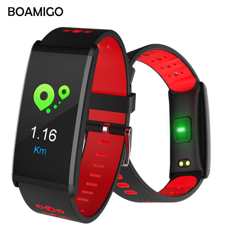 Smart Watch BOAMIGO Brand Smart Wristband bracelet men Call Message Reminder Pedometer Calorie Bluetooth Alarm For IOS Android