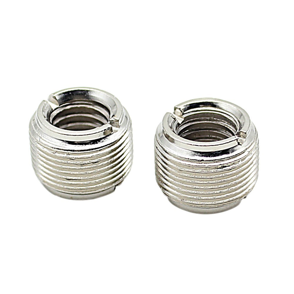 "2pcs Microphone Mic Screw Nut Thread Adaptor 3/8"" to 5/8"" Connector Cupronickel"