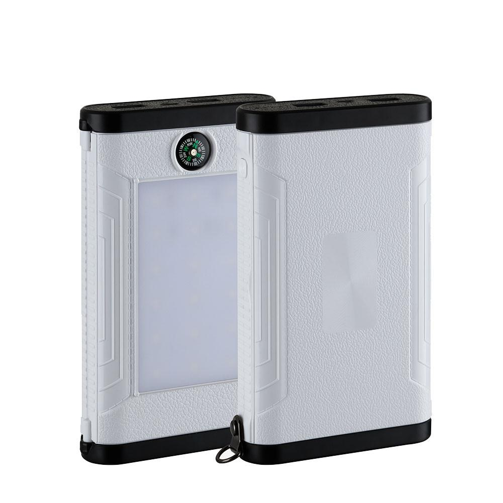 DIY Charger Box Power Bank Box Economic Charging External Box Power Bank Case Solar Energy Compass Shell LED Flashlight