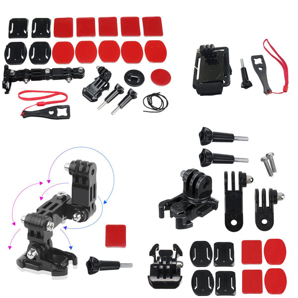 Motorcycle Full Face Helmet Front Side Chin Mount for Xiaomi YI 4K for GoPro Hero 6 5 4 3 SJCAM Sj4000 EKEN H9 POV Action Camera
