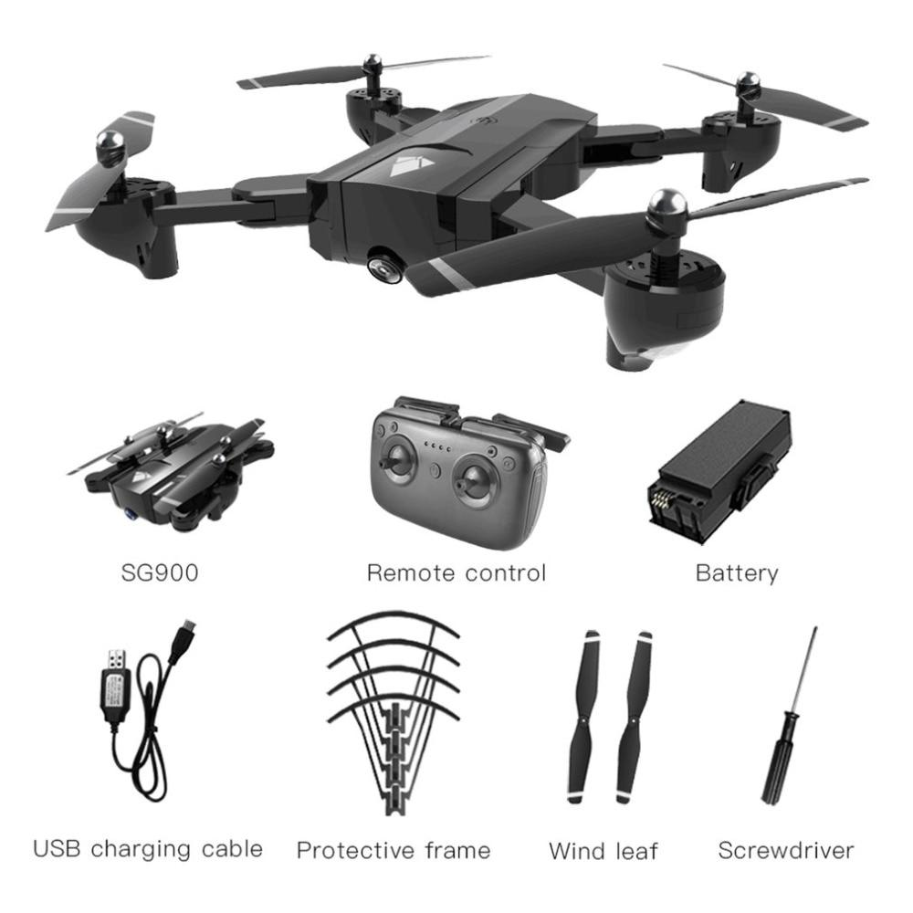 SG900 Foldable camera drone 1100mAh/2200mAh 2.4GHz 720P Drone WIFI FPV RC Drones GPS Optical Flow Positioning With Camera