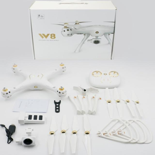 W8 2.4G Drone with 1080P Camera 4CH Long Distance RC Quadrocopter Built-in GPS Headless Mode Altitude Hold Wifi FPV Drone