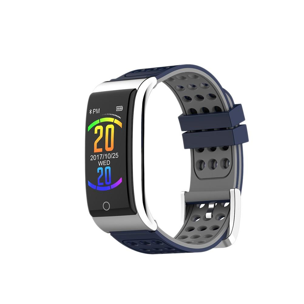 E08 0.96 Inch Smart Watch Waterproof Heart Rate Blood Pressure Pedometer Color Display Fitness Tracker Smart Band