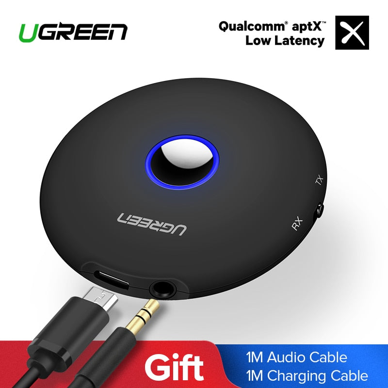 Ugreen Bluetooth Transmitter 4.2 3.5mm APTX Bluetooth Adapter for TV Headphones Speaker Playstation 4 Audio Bluetooth Receiver