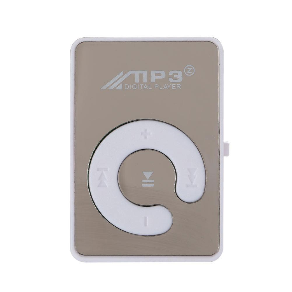 3.5mm Mirror Clip USB Button Switch Digital MP3 Player Support TF Card Memory