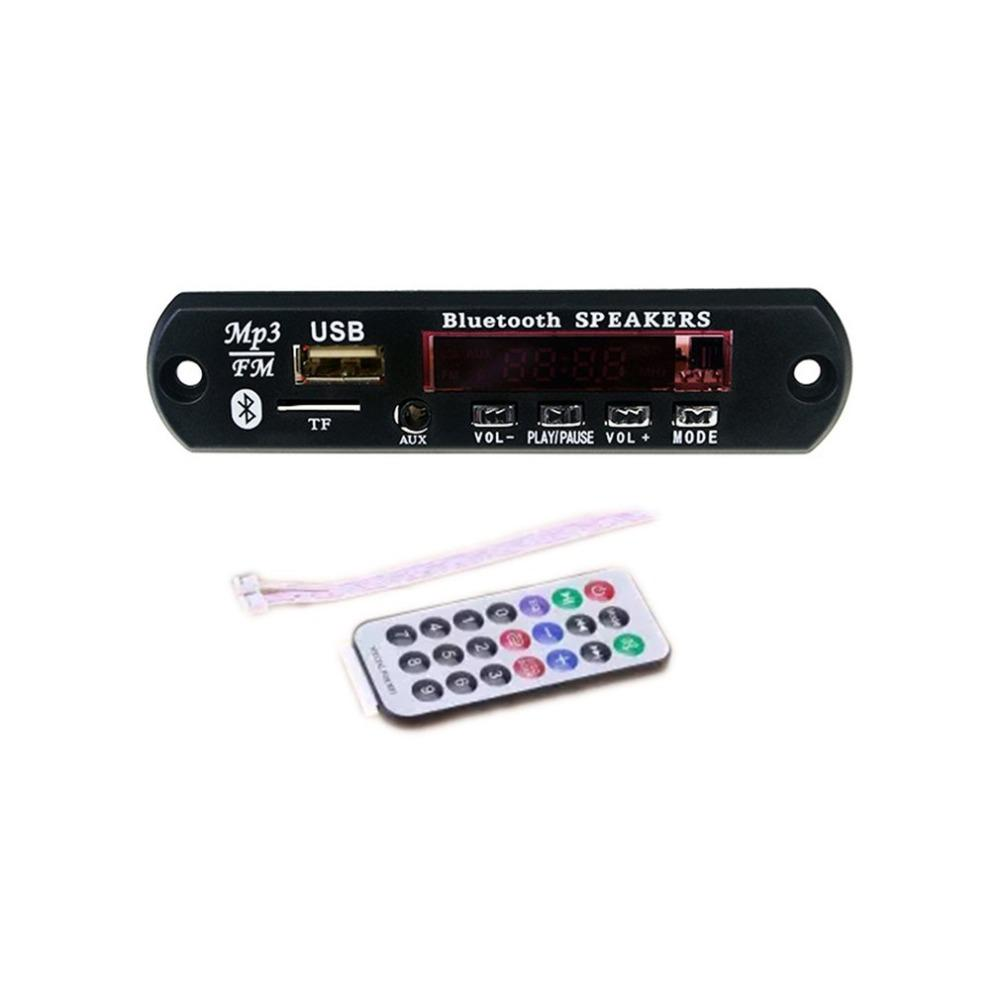 MP3 Decoder Bluetooth Wireless Bluetooth 12V MP3 WMA Decoder Board Audio Module USB TF Radio For Car Remote Music Speaker