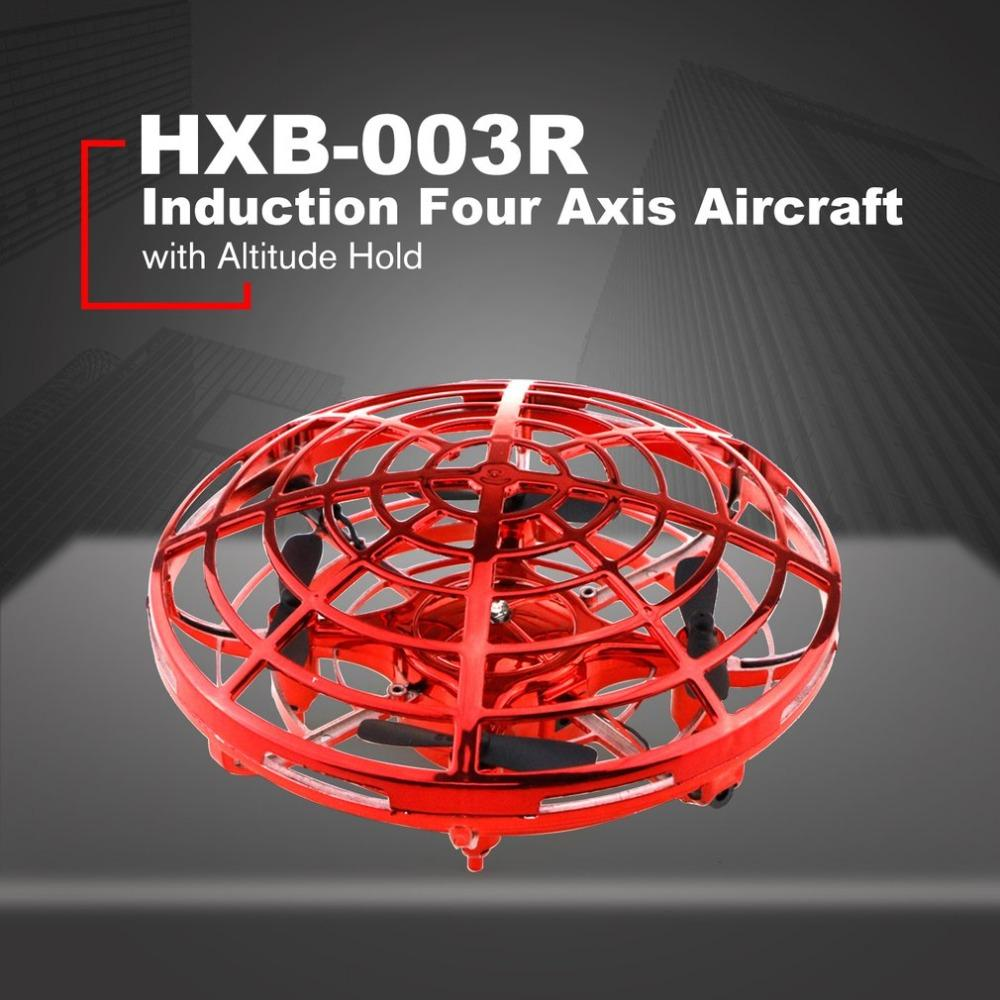 HXB-003R Infrared Induction Headless Mode Drone Fixed Height Remote Control Induction Speed Regulation Four Axis Aircraft