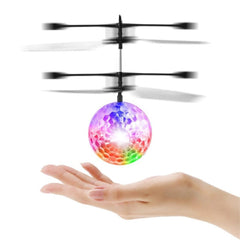 Light Weight Plastic Infrared Induction Flying Flash Disco Colorful Magic LED Ball Stage Lamp Helicopter Children Toy Best Gift