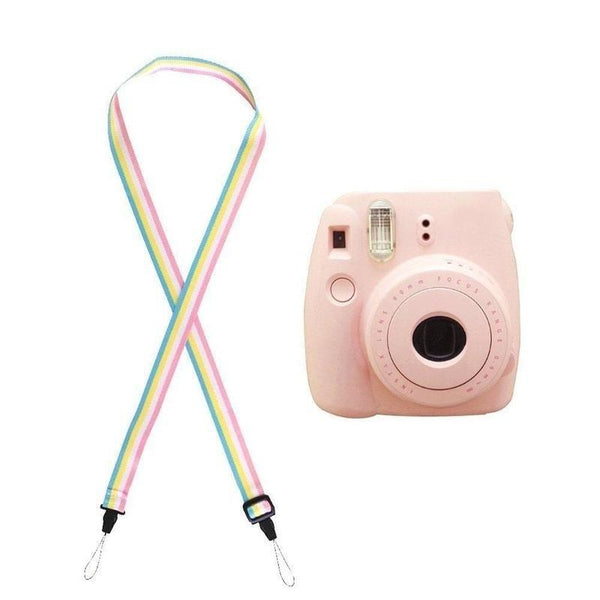 Rainbow color Adjustable Camera Neck Strap