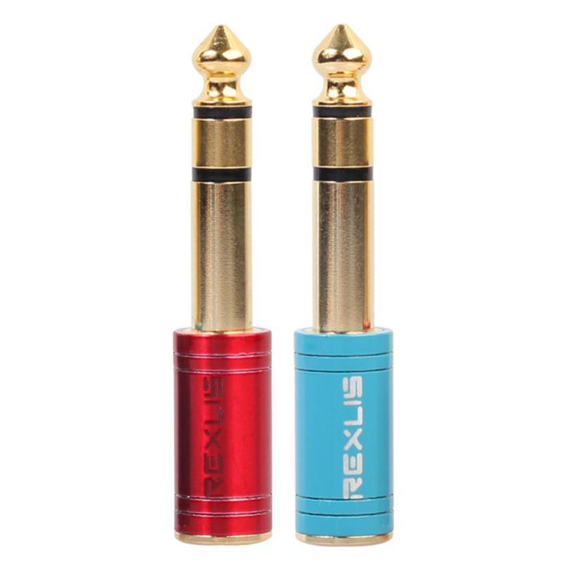 6.35mm 1/4 inch Male Dual Channel to 3.5mm 1/8 inch Stereo Female Audio Adapter Connector Converter for Headphone Microphone