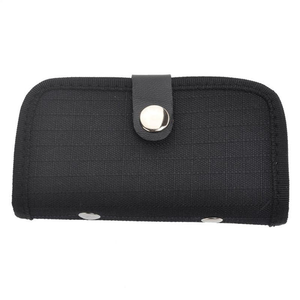 Portable 22 Slots SD SDHC MMC CF Micro SD Memory Card Holder Pouch Case Bag with Buckle Closure (Black)