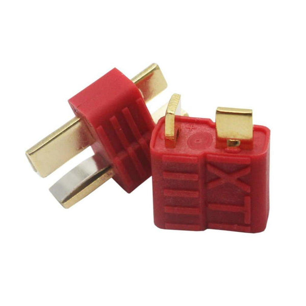 New T-Plug Non-slip Connector Male Deans For Deans RC Lipo Battery Helicopter