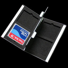 Aluminum Memory Card Protecter Box Storage Case Holder 4 X CF SD Compact Flash