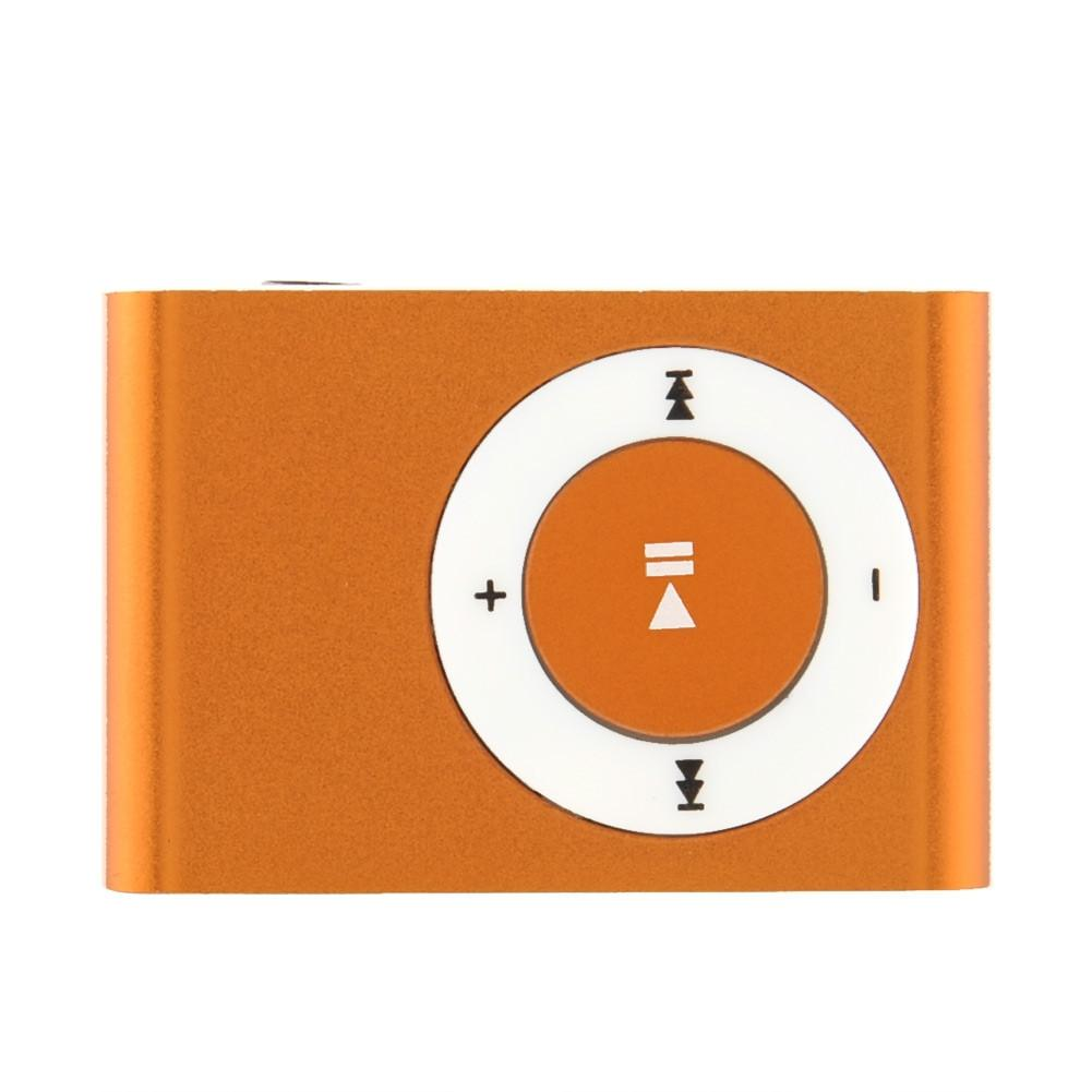 Orange Mini Fashion Clip Metal MP3 Music Player Support SD TF Card