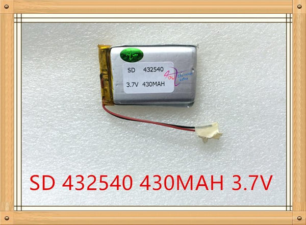 Liter energy battery 3.7V lithium polymer battery MP3 point reading pen MP4 driving recorder 432540 recording pen 430mAh
