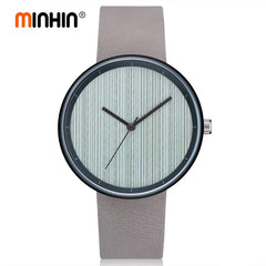 MINHIN 2018 Fashion Military Quartz Wristwatches Mens Watches Leather Casual Smart Watches Clock Relogio Masculino
