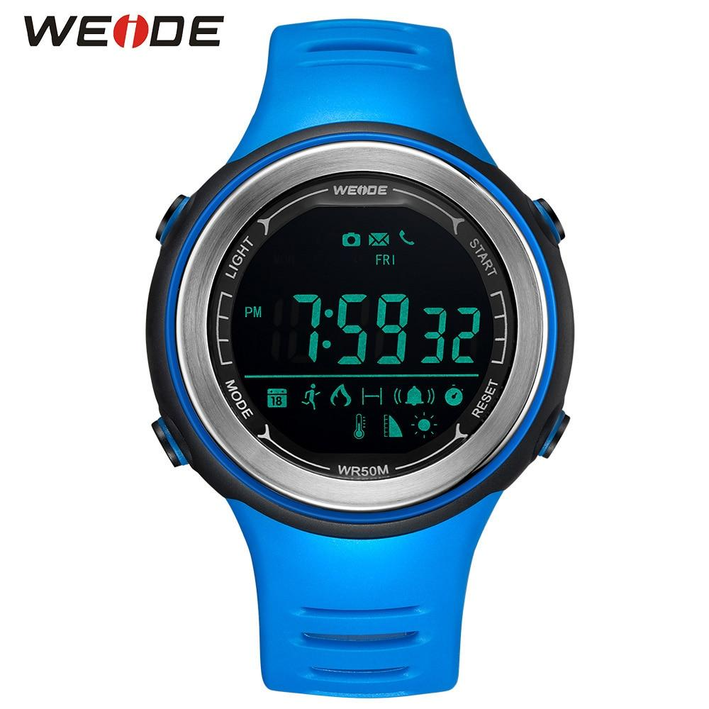 WEIDE Bluetooth Men Smart Watches Hombre Smartwatch Digital Waterproof Clock Android Phone  Relogio Blue Sport Unisex Watch