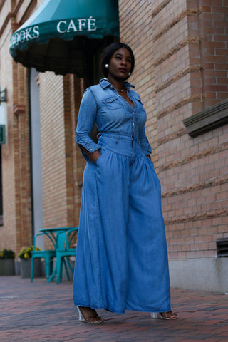 Super Wide Leg Denim Pant