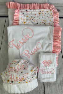 Pink, Gray & Gold Stars Gift Set