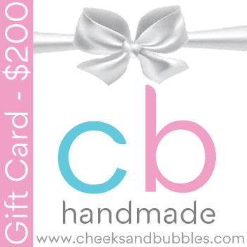 Cheeks & Bubbles Handmade Gift Card